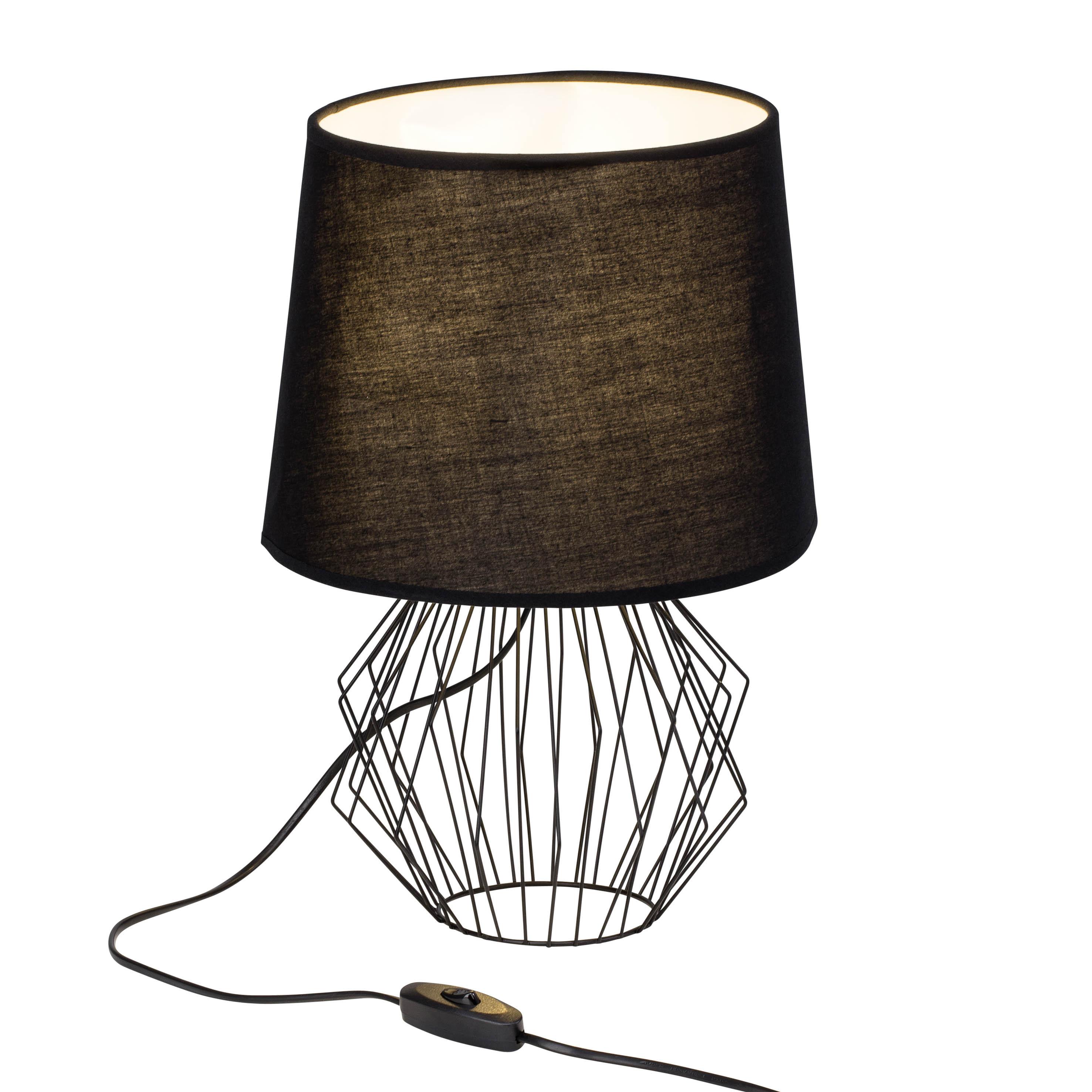 Brilliant Leuchten Noris Tischleuchte schwarz