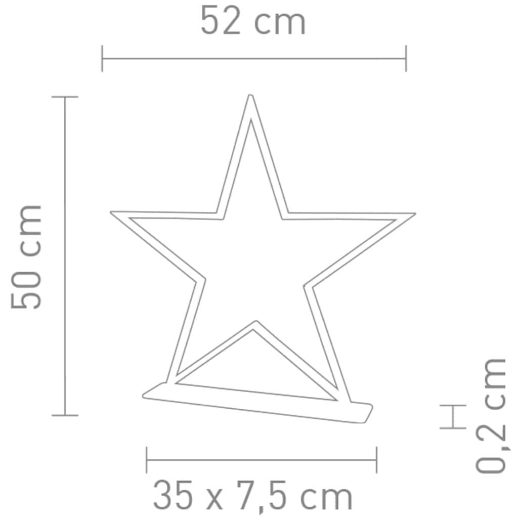 SOMPEX LED Stern »LUCY«, Warmweiß, Höhe 50 cm