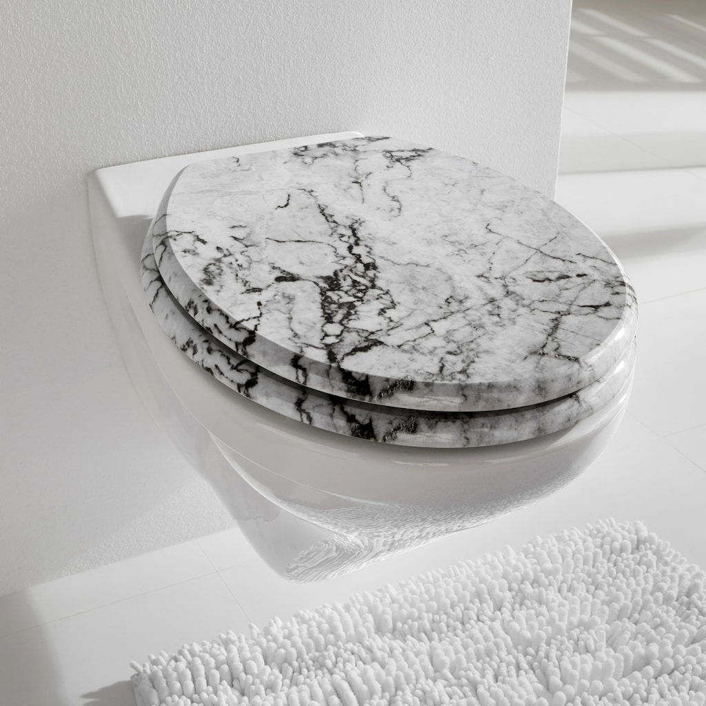 WC-Sitz Marmor in Marmor-Optik