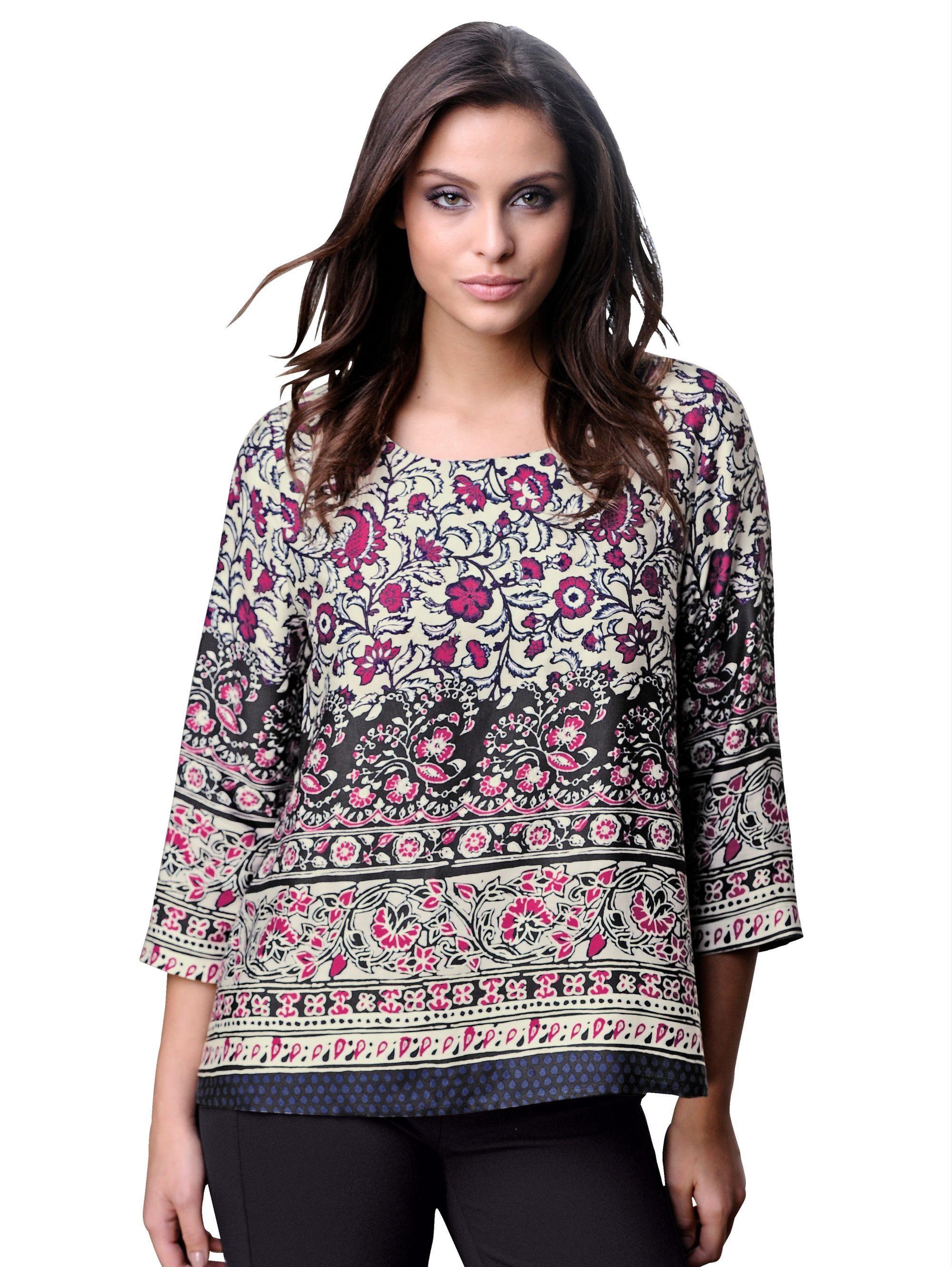 Alba Moda Bluse aus softer Ware mit schönem Glanz