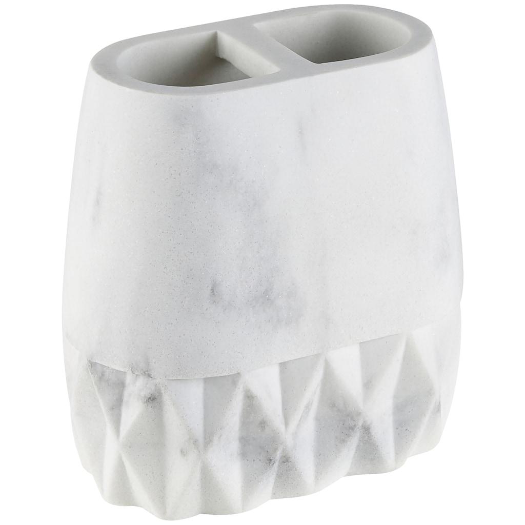 welltime Badaccessoires-Sets »Marble«, Set: 5 tlg., inkl. Ersatzbürstenkopf für WC-Bürste