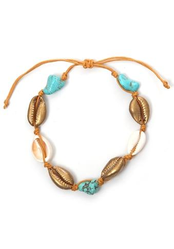 COLLEZIONE ALESSANDRO Armband »Muschel, A2721A - F101-93«, mit Türkis und Muscheln... kaufen
