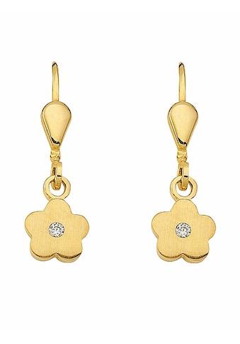 Adelia´s Paar Ohrhänger »333 Gold Ohrringe / Ohrhänger Blüte mit Zirkonia«,... kaufen