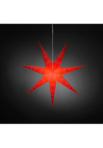 KONSTSMIDE LED Stern, E14, aus Papier, perforiert und rot bestickt mit 7 Zacken kaufen
