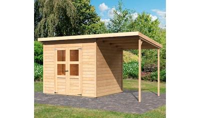 KONIFERA Set: Gartenhaus »Baggersee 4«, BxT: 415x236 cm, mit Anbaudach kaufen