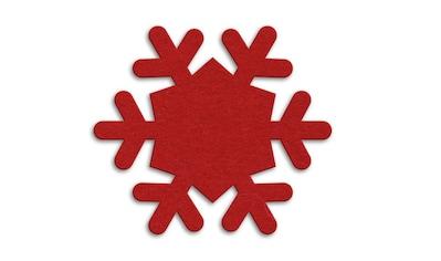 Wall-Art Tischdecke »Runde Filzdecke Schneeflocken«, (1 St.) kaufen