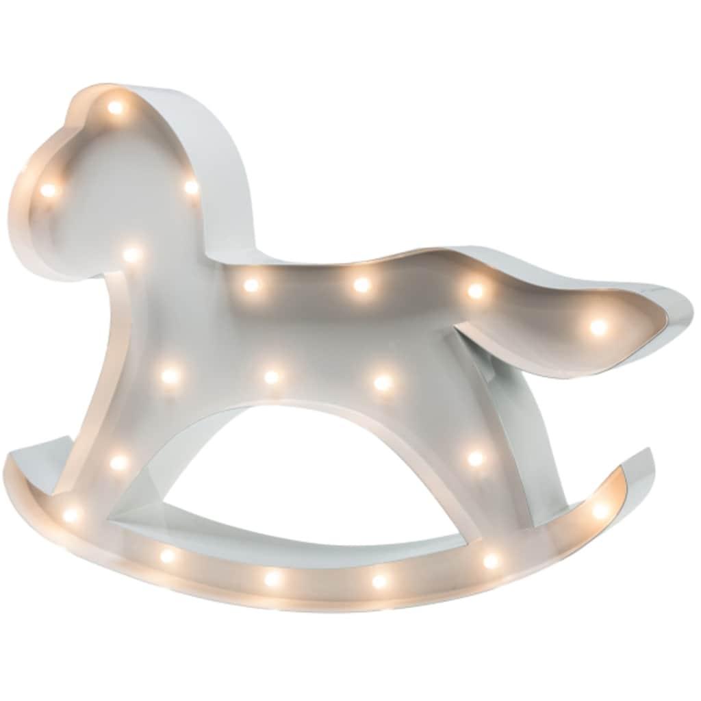 MARQUEE LIGHTS LED Dekolicht »Schaukelpferd«, 1 St., Warmweiß, Wandlampe, Tischlampe Hobbyhorse mit 19 festverbauten LEDs - 31cm Breit und 22cm hoch