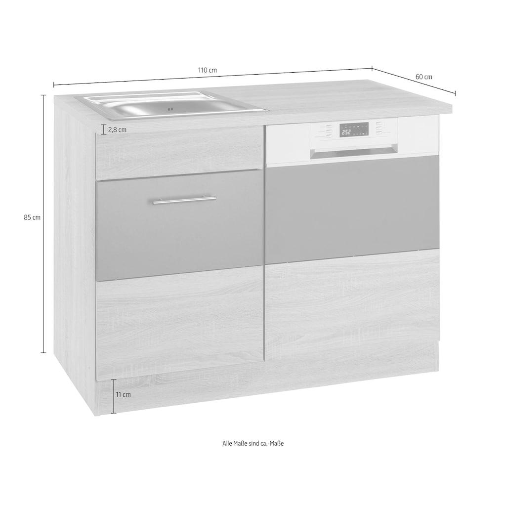 HELD MÖBEL Spülenschrank »Perth«, Spülenschrank, Breite 110 cm, mit Tür/Sockel für Geschirrspüler