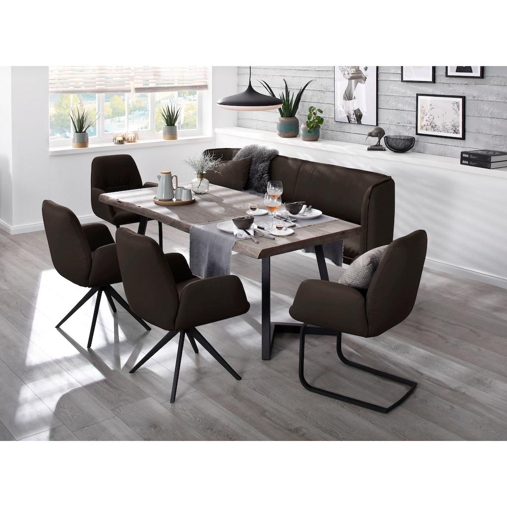 W.SCHILLIG Essbank »chloé«, 2-Sitzer Küchensofa mit dekorativer Biese