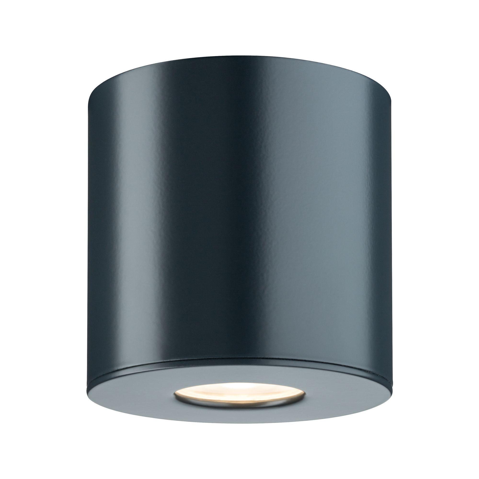 Paulmann LED Außen-Deckenleuchte Aufbauleuchte 5,8W Anthrazit, 1 St., Warmweiß