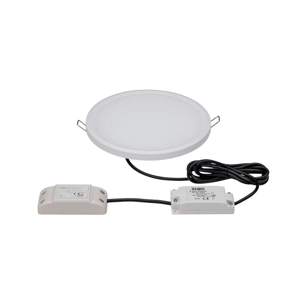 Paulmann LED Einbaustrahler »Panel Dimmbar Badleuchte Weiß rund 9W«, 1 St., Neutralweiß