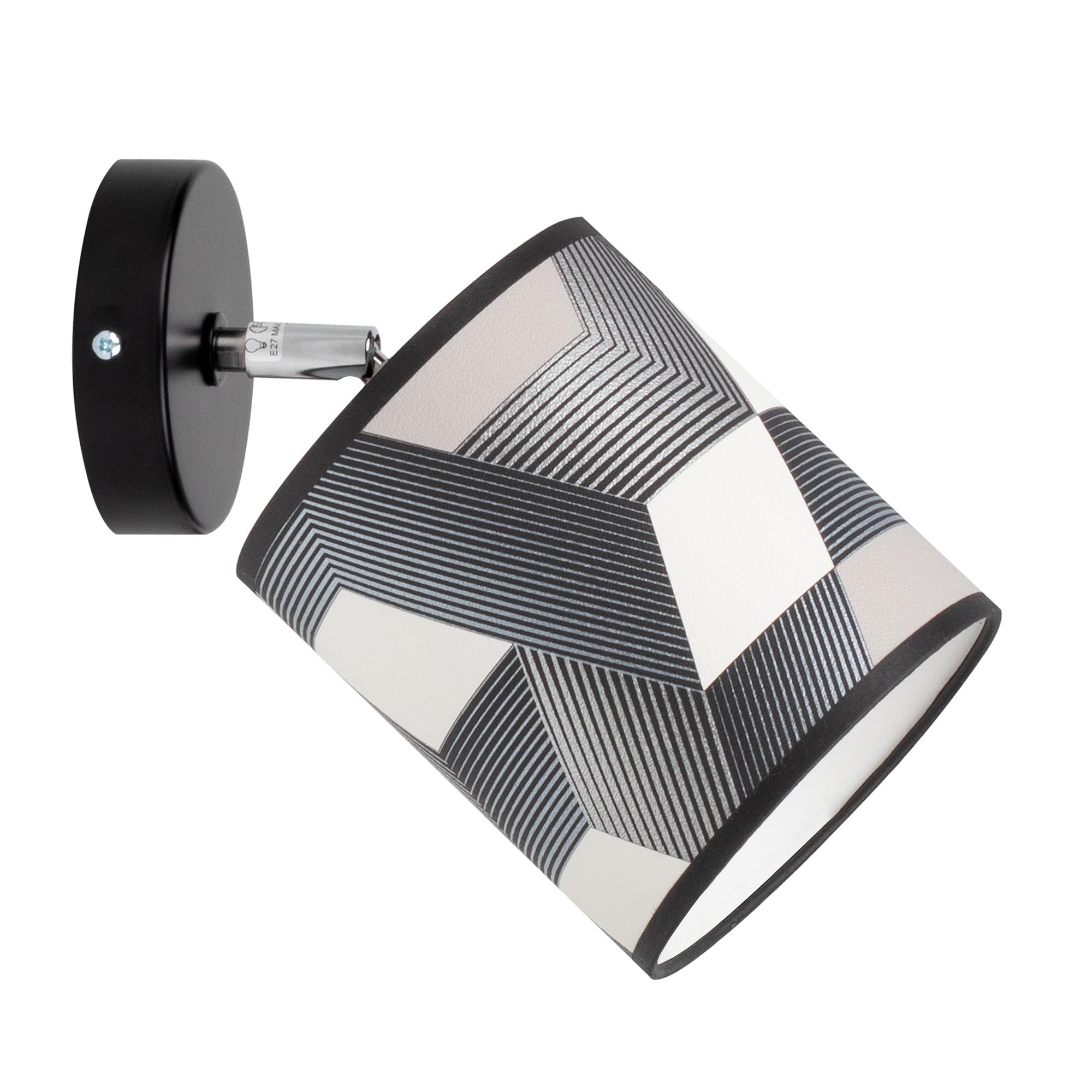 BRITOP LIGHTING Wandleuchte ESPACIO, E27, Schirme aus laminierter Tapete, bewegliche Spots, passende LM E27 / exklusive, Made in Europe