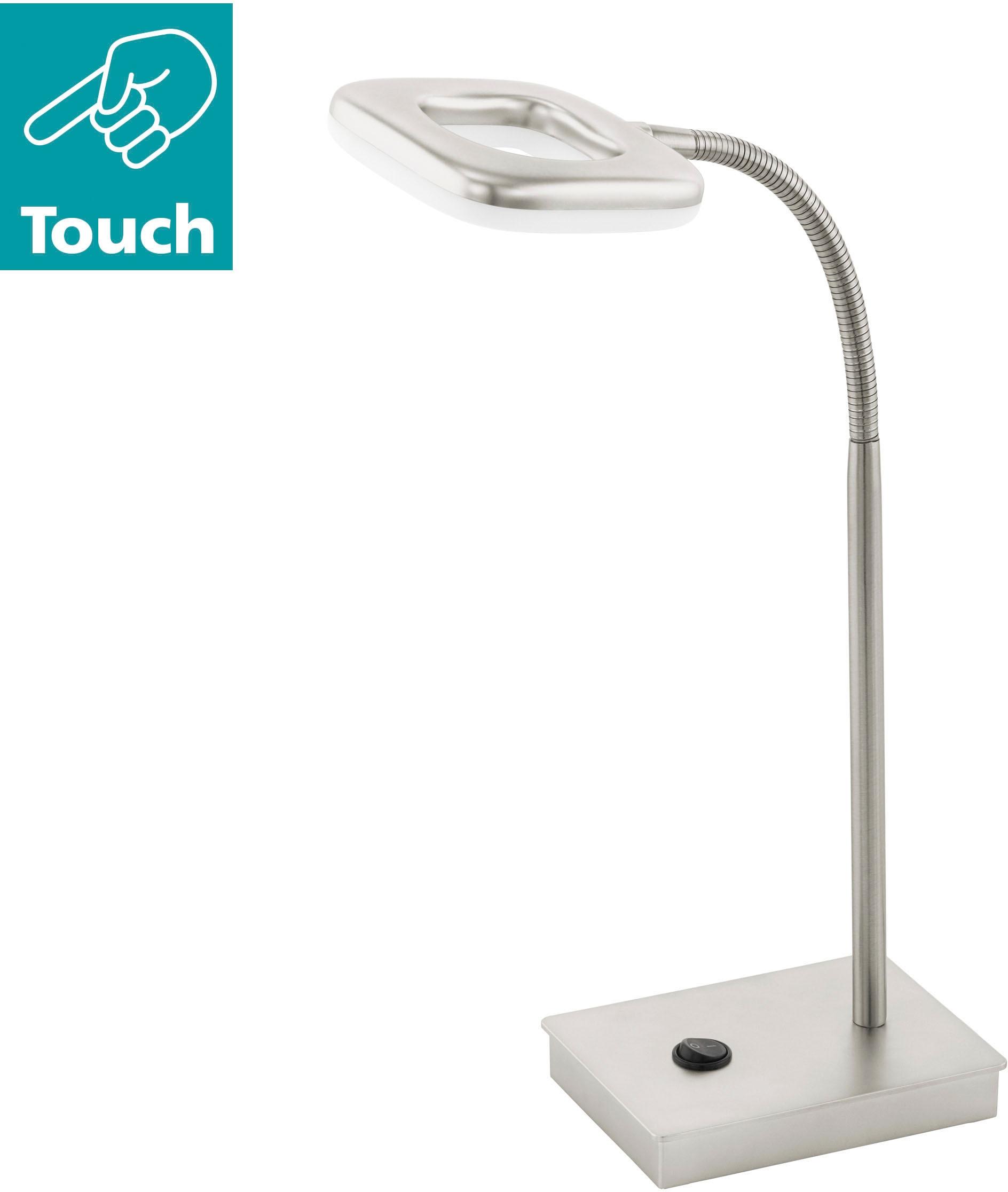 EGLO LED Tischleuchte LITAGO, LED-Board, Warmweiß, mit flexiblem Leuchtenhals
