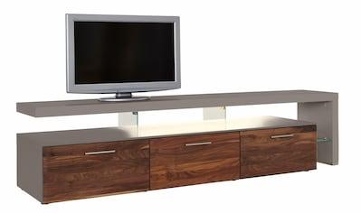 GWINNER Lowboard »SOLANO«, Lack fango, mit 3 Schubladen, Breite 228 cm kaufen