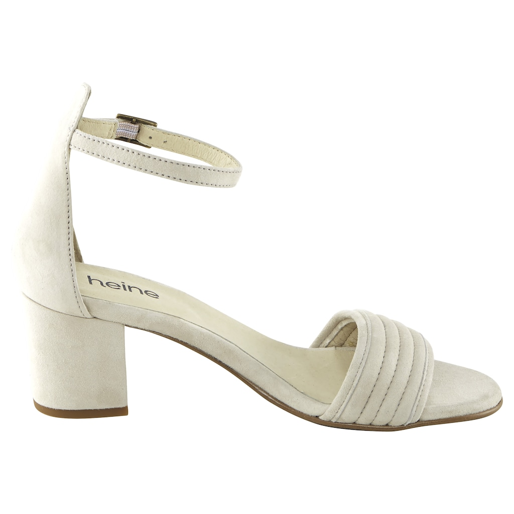 Sandalette aus Veloursleder