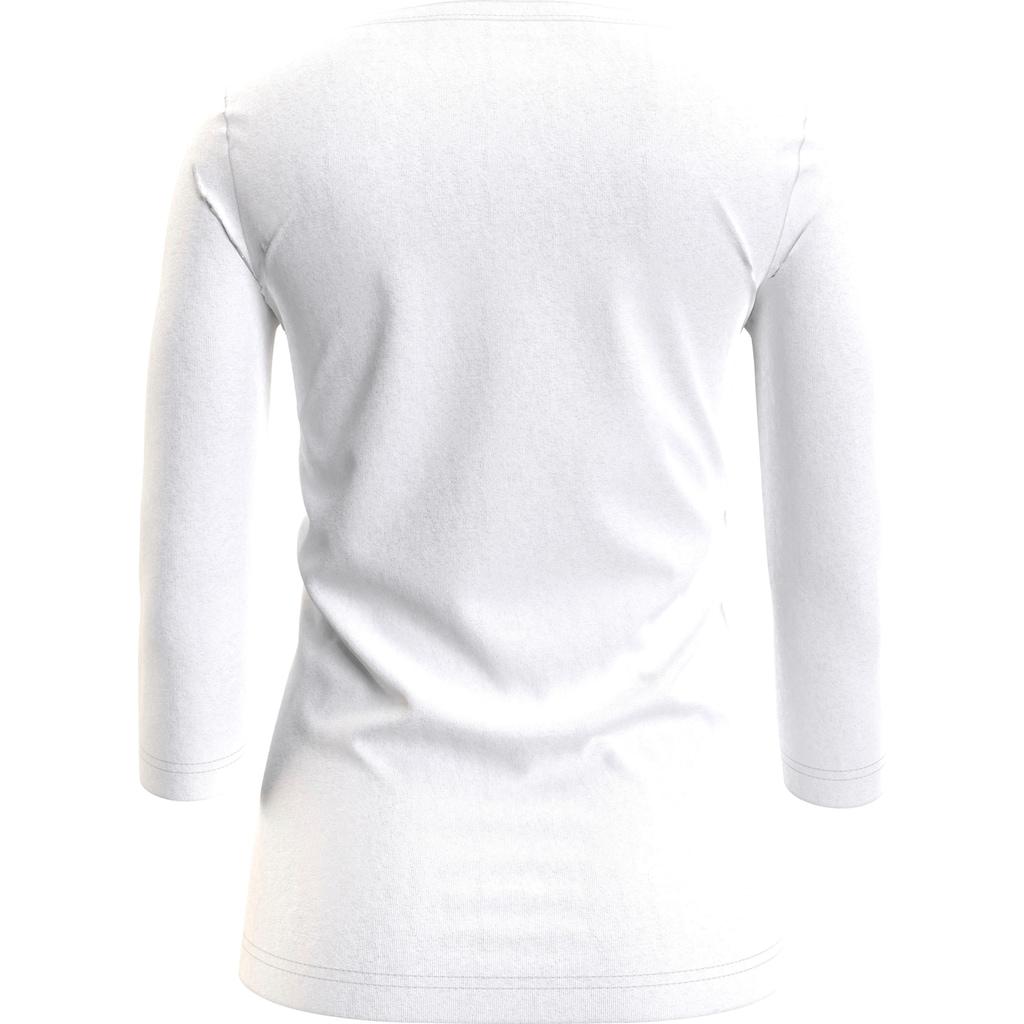 Tommy Hilfiger 3/4-Arm-Shirt »BOAT NECK TEE 3/4«, mit Tommy Hilfiger Logo-Flag auf der Brust
