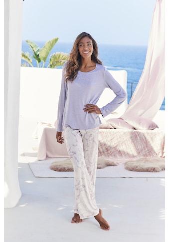 s.Oliver Pyjama, mit marmorierten Print kaufen