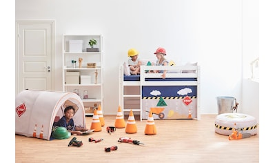 Hoppekids Hochbett »Construction«, inkl. Vorhang, Matratze und Rollrost kaufen