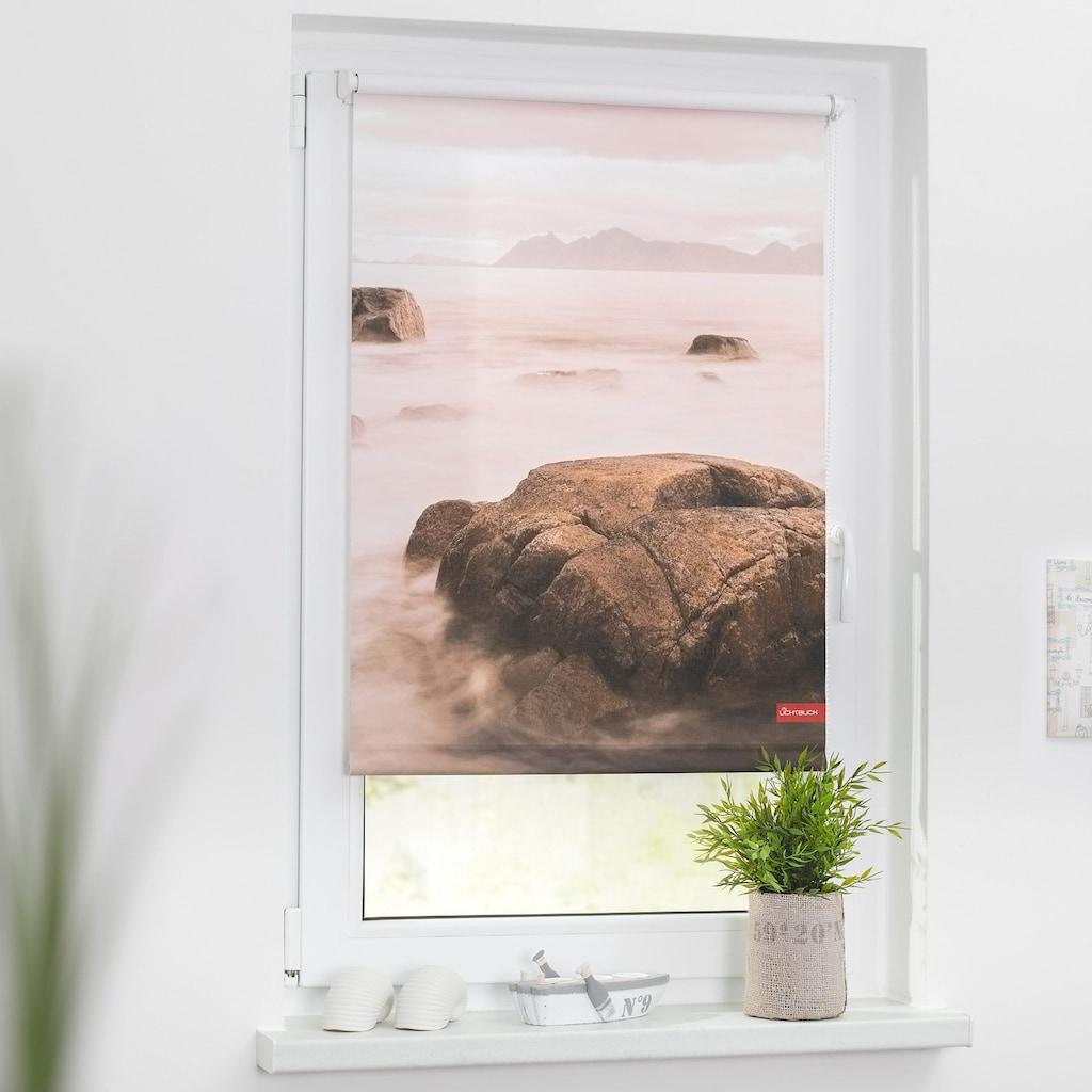 LICHTBLICK ORIGINAL Seitenzugrollo »Klemmfix Motiv Stone«, Lichtschutz, ohne Bohren, freihängend, bedruckt