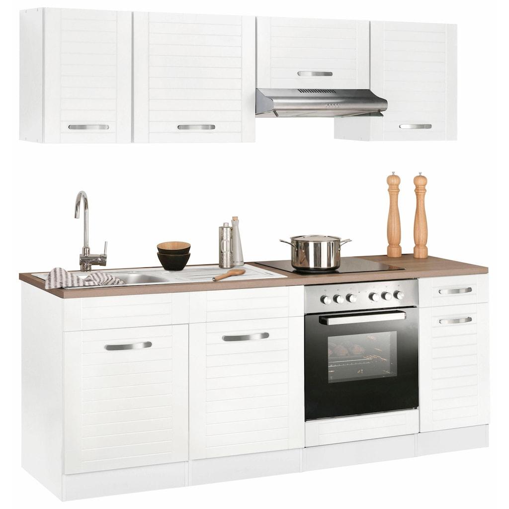 HELD MÖBEL Küchenzeile »Falun«, mit E-Geräten, Breite 210 cm