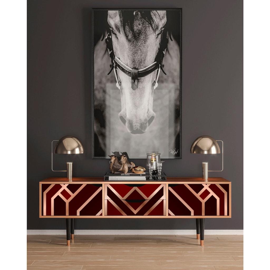 Places of Style Lowboard »Velvet«, mit dekorativen Print auf den Türen