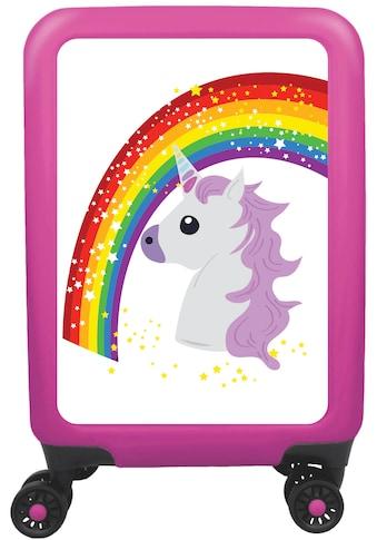 """meinTrolley Hartschalen - Trolley """"Einhorn Rainbow and Stars, 77 cm"""", 4 Rollen kaufen"""