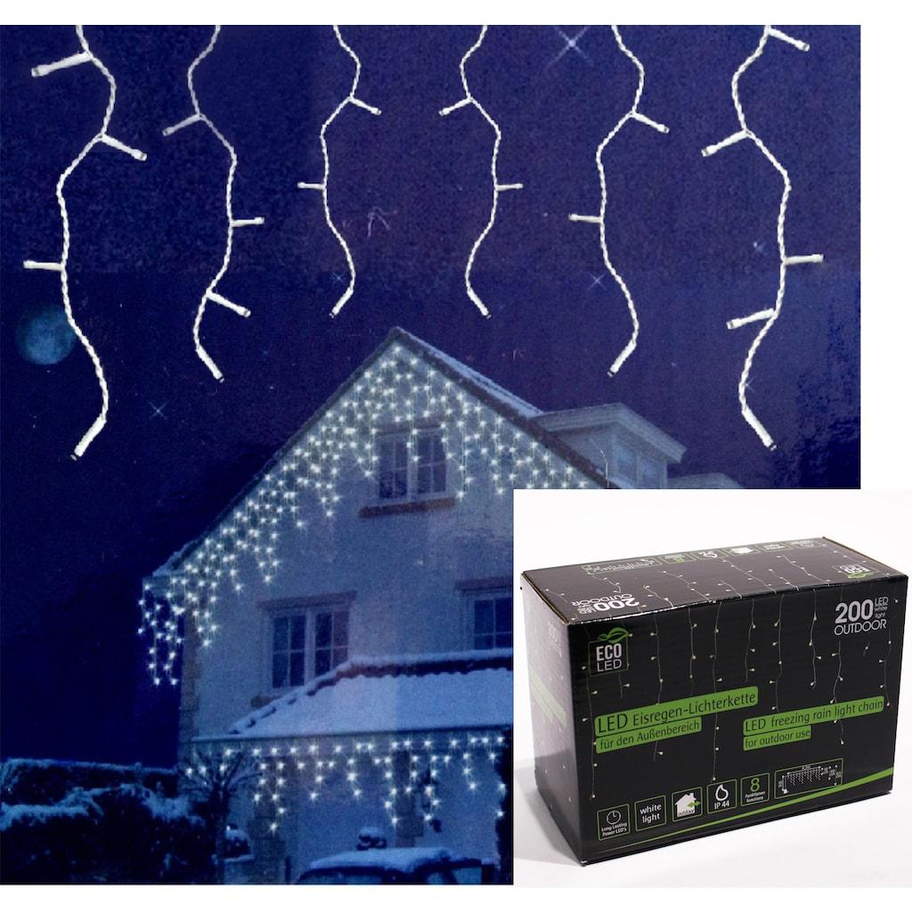 NOOR LIVING LED-Lichterkette »Eisregen«, mit warmweißen LEDs und 8 Funktionen