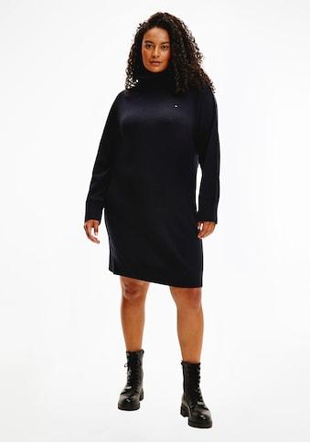 Tommy Hilfiger Curve Strickkleid »CRV SOFTWOOL ROLL-NK KNEE DRESS«, mit breitem... kaufen