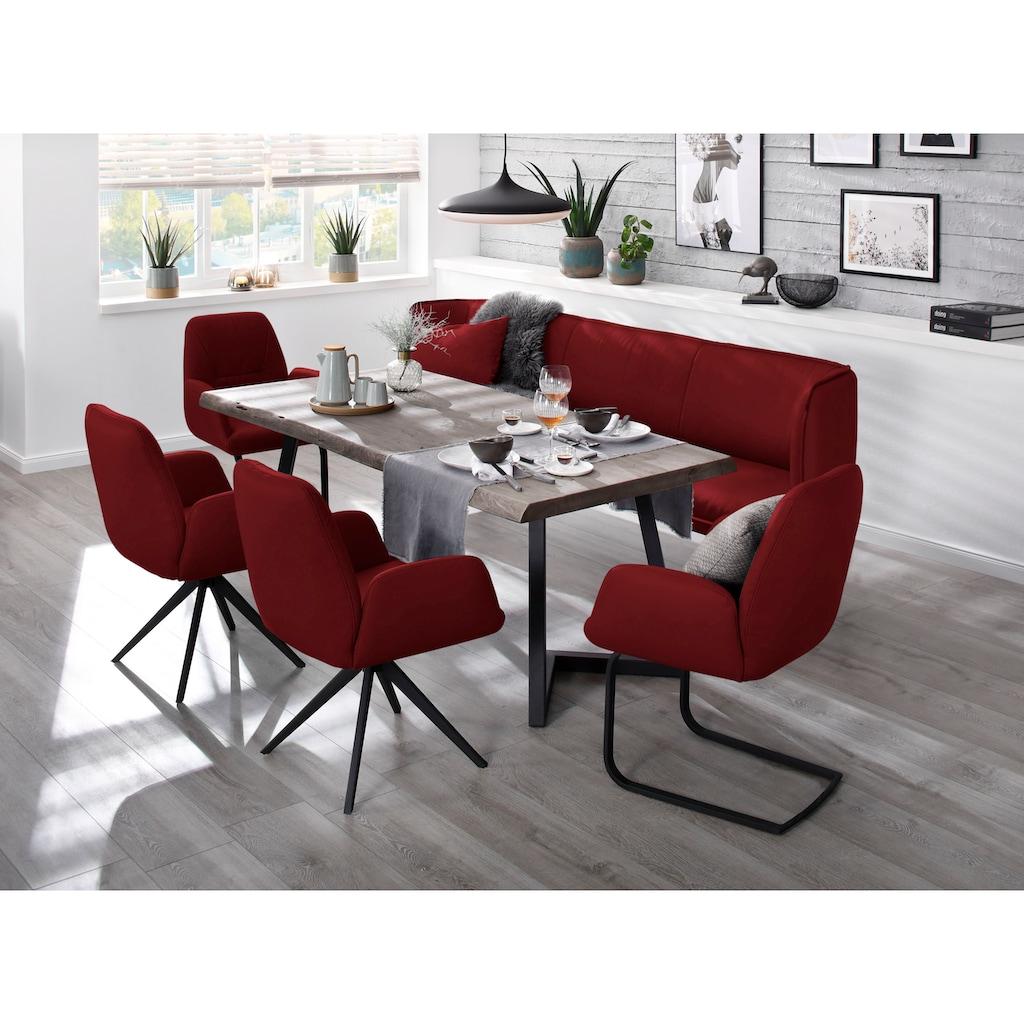 W.SCHILLIG Essbank »chloé«, 3-Sitzer Küchensofa mit dekorativer Biese, in 3 Breiten
