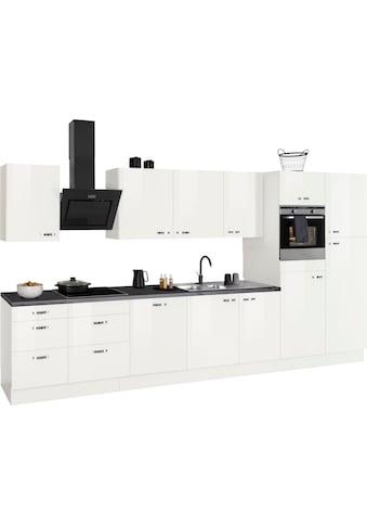OPTIFIT Küchenzeile »Cara«, 400 cm breit, inkl. Elektrogeräte der Marke HANSEATIC, Soft-Close-Funktion, Vollauszüge, 38 mm starke Arbeitsplatte kaufen