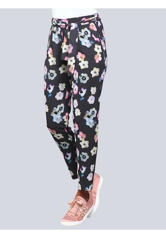 Alba Moda Druckhose mit modischem Blumendruck kaufen