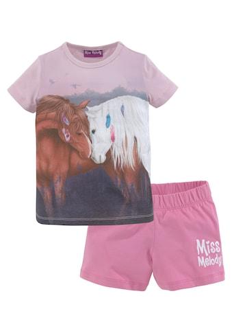 Miss Melody Shirt & Shorts, mit schönem Pferdemotiv kaufen