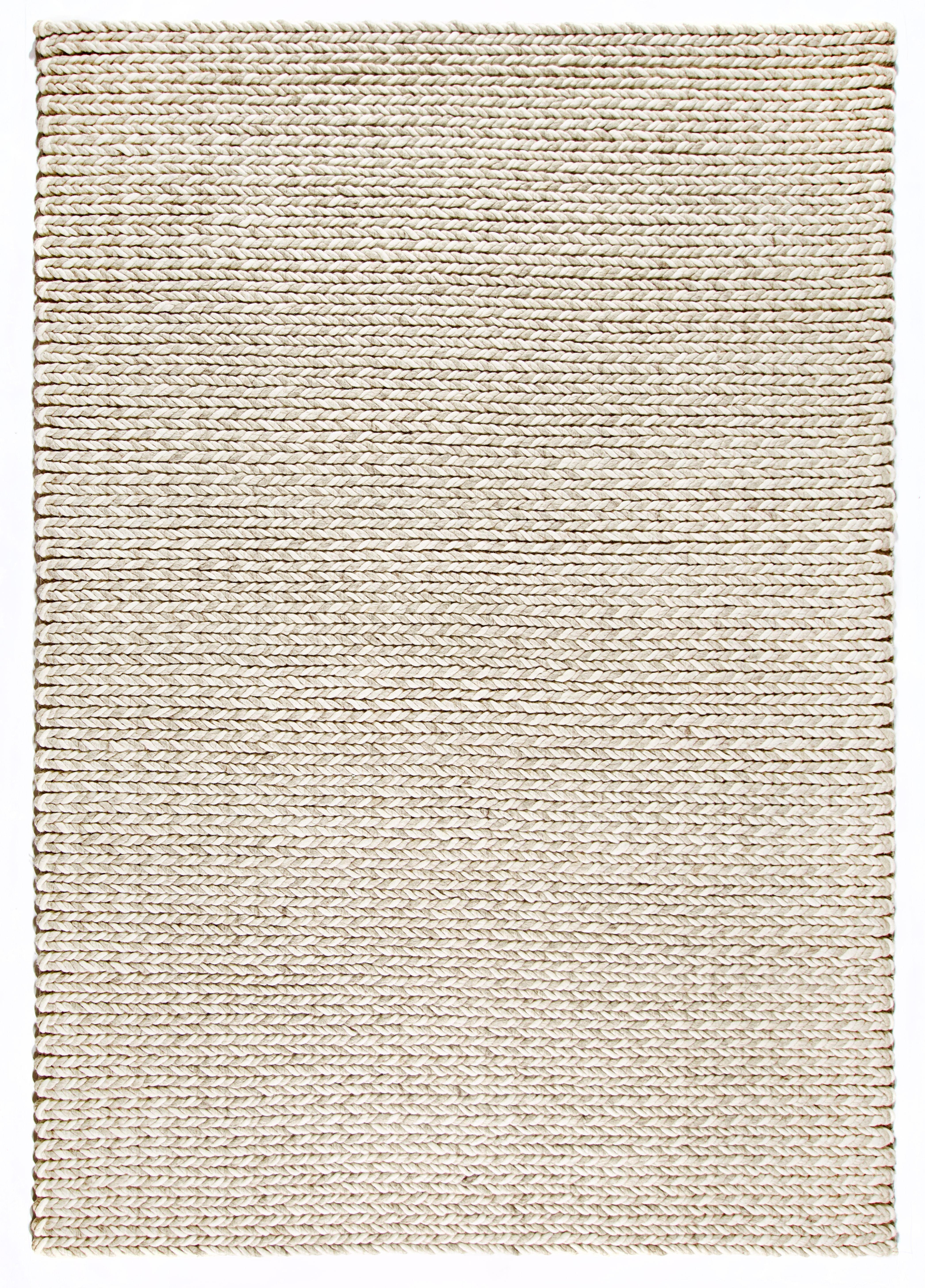 Dekowe Hochflor-Teppich Enja, rechteckig, 25 mm Höhe, Strickoptik, Wohnzimmer beige Esszimmerteppiche Teppiche nach Räumen