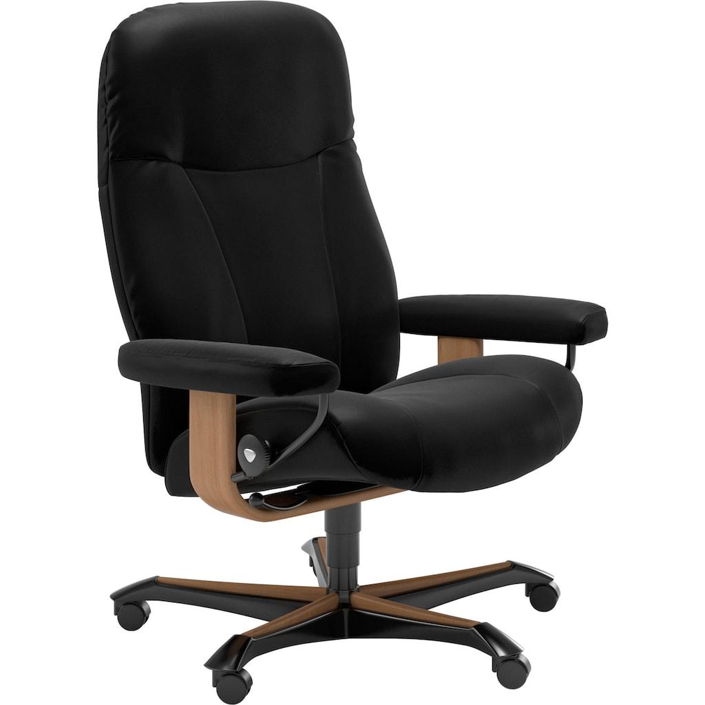 Stressless® Relaxsessel »Garda«, mit Home Office Base, Größe M, Gestell Eiche