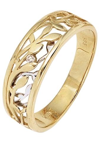 JOBO Solitärring, 585 Gold bicolor mit Diamant 0,02 ct. kaufen