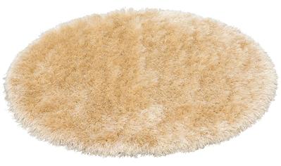 merinos Hochflor-Teppich »Glossy 411«, rund, 70 mm Höhe, Besonders weich durch... kaufen