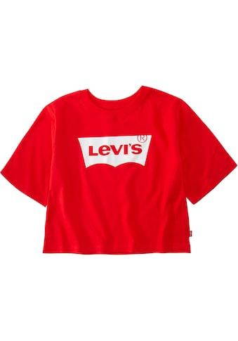 Levi's Kidswear T-Shirt »Levis Light Bright Cropped Top«, in kurzer, weiter Form kaufen