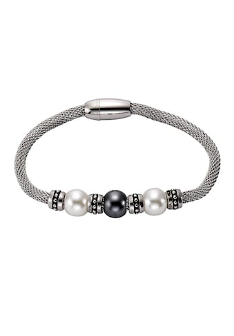 Vivance Armband »Edelstahl Perlen« kaufen