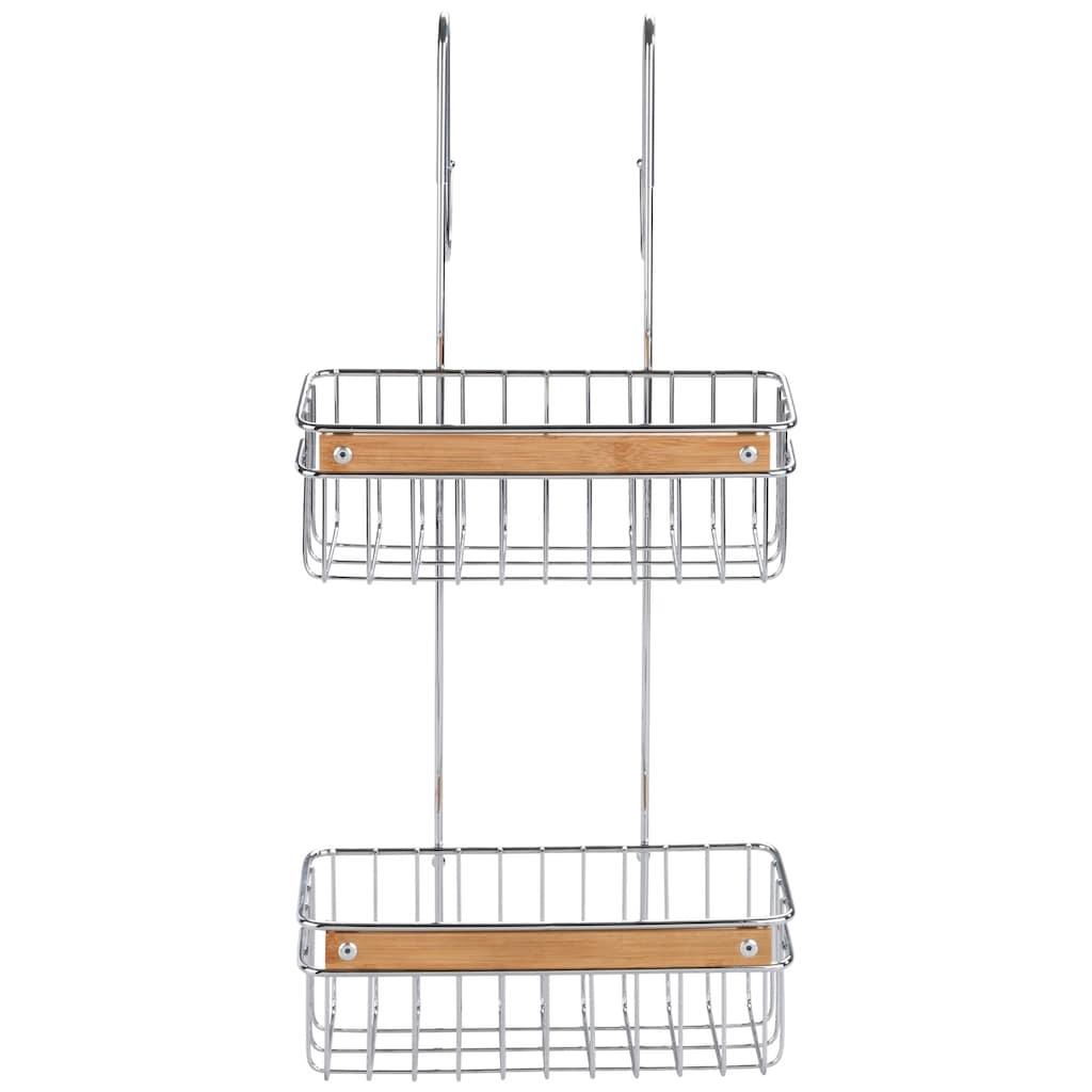 WENKO Badregal »Zerbo«, (1 St.), 2 Körbe, zum Einhängen