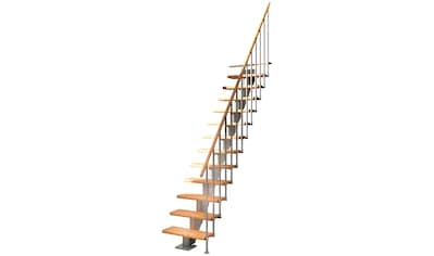 DOLLE Mittelholmtreppe »Frankfurt Buche 75«, bis 279 cm, Metallgeländer, versch. Ausführungen kaufen