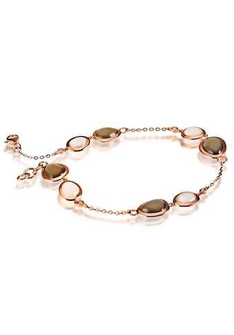 goldmaid Armband 585/ -  Rotgold 8 Mondsteine 4 Brill. 0,06 ct. kaufen