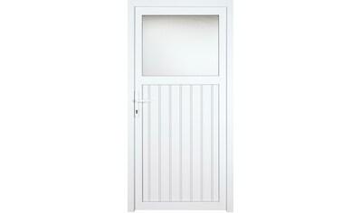 KM MEETH ZAUN GMBH Nebeneingangstür »K605P«, BxH: 98x208 cm cm, weiß, rechts kaufen