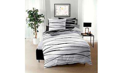 BETTWARENSHOP Wendebettwäsche »Satinmotion black&white«, feine Ganzjahreswäsche kaufen