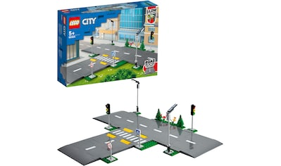 LEGO® Konstruktionsspielsteine »Straßenkreuzung mit Ampeln (60304), LEGO® City Town«, (112 St.), Made in Europe kaufen