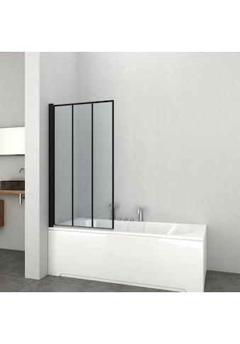 Badewannenaufsatz »ELITE Black«, 1 - Tlg. Badewannenaufsatz mit Alu - Profilen in schwarz matt kaufen