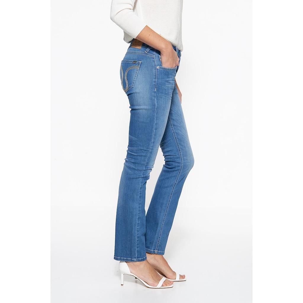ATT Jeans Straight-Jeans »Stella«, mit markanter Absteppung auf der Münztasche