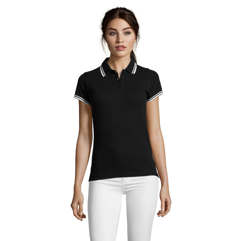 SOLS Poloshirt »Damen Pasadena Pique Polo-Shirt, kurzärmlig«