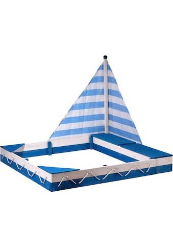 dobar Sandkasten »Maritim«, mit Segel und zwei Spielzeugkisten kaufen