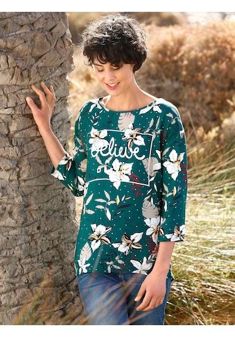 Dress In Schlupfbluse, mit silbernem Schriftzug kaufen