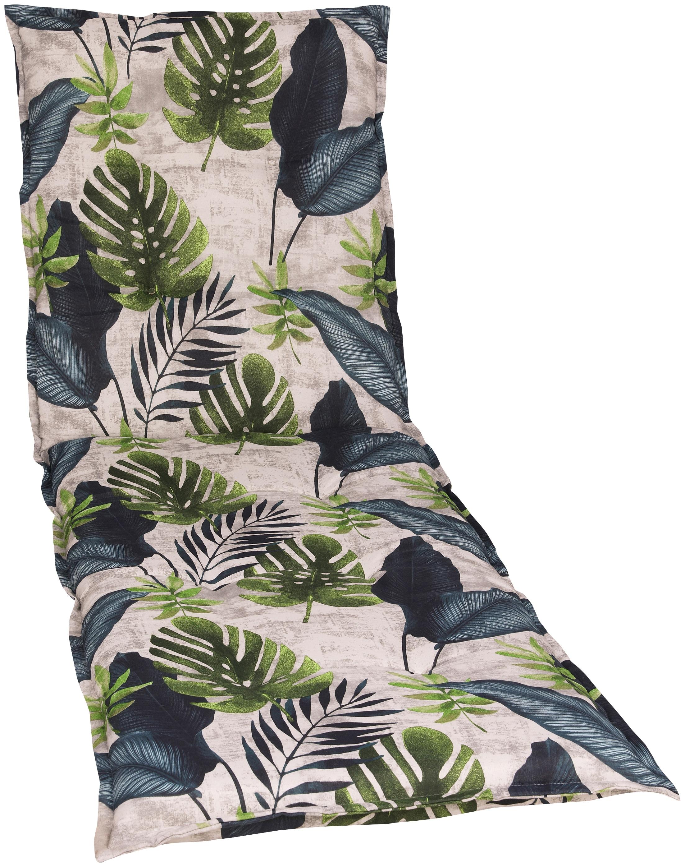 GO-DE Liegenauflage, 190 x 60 cm grün Liegenauflage Liegenauflagen Gartenmöbel-Auflagen Gartenmöbel Gartendeko